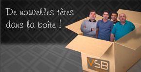 Emailing interne pour présenter les nouveaux arrivants de chez VSB