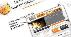 Emailing pour le lancement du site de VSB Distribution