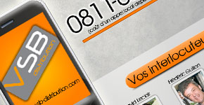 Emailing pour communiquer sur les coordonnées de VSB Distribution