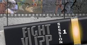 Affiche pour annoncer une soirée de battle de clips musicaux par l'association Audiovisuelle DIPP de nantes