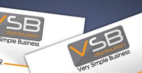 Cartes de visite pour le personnel de VSB Distribution