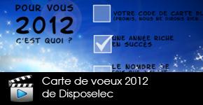 Carte de voeux animée groupe disposelec 2012
